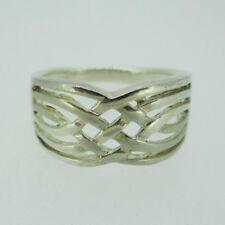 Sterling Silver Irish Celtic Knot Pattern Band Ring Size 8 1/2