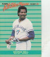 FREE SHIPPING-MINT (BLUE JAYS) 1988 Fleer All-Stars Baseball #5 George Bell-2