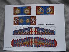 28mm Medieval Wars of the Roses Paper Flags Yorkist Edward IV