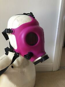 Horror Halloween  Purple  Silicone Gas Mask With Black Custom Lenses