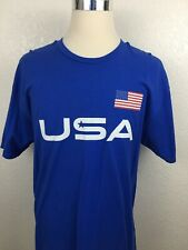 Samsung American Flag USA Mens Blue Short Sleeve T-Shirt Size XL White Red Print