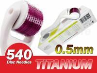 540 White Micro Needle Skin Dermaroller 0.5mm Wrinkles, Anti-aging Hair Loss