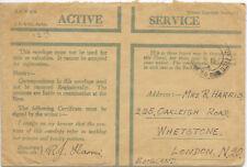 Servicio activo GB cubierta de honor Poss 1939; FPO 36 no censurada.
