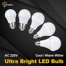 E27 B22 E14 bombilla de luz LED de ahorro de energía 3/5/7/9/12/15W fría/cálida Blanco 220V 1A2