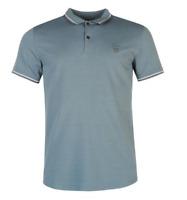 Firetrap Mens Mirage Blue Polo Tshirt Short Sleeves UK size M Medium