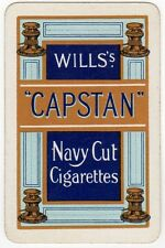 Playing Cards 1 Single Swap Card - Old Wills CAPSTAN Navy Cut Cigarettes Smoking
