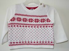 Brand New ~ Janie and Jack Snowflake Splendor Pullover Sweater Sz 12-18M