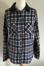 Asos Size 10 Ladies Multicoloured Checked Long Sleeve Shirt Top Casual Weekend