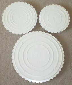 Wilton Decorator Preferred Round Cake Separator Plates 7~8~11 Inch