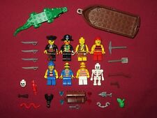 LEGO Pirates minifigures LOT Captain,Pirates,Crocodile,Boat,Weapons,Skeleton +