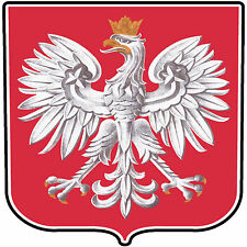 POLISH EAGLE DECAL Size apr. 70mm by 70mm