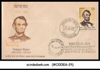 INDIA - 1965 HONOURING ABRAHAM LINCOLN - FDC