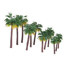 12*Green African Palm Tree Model Sand Table Building 3 pcs/each(8/10/12/15cm)Hot