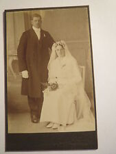 Göteborg-COPPIA-Matrimonio-uomo & donna nell'atelier-Portrait/CDV Svezia
