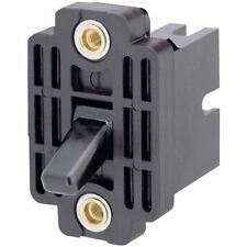 Marquardt 0350.0101 Toggle Switch 10A 3PST On-Off Plastic Lever Black & Red Dot