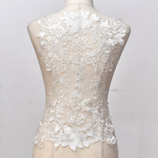 Ivory Collar Floral Lace Appliques Delicate Wedding Trim cotton Embroidery lace