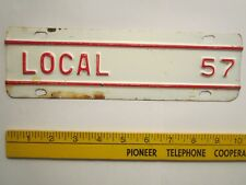 LICENSE PLATE Truck Tag TOPPER 1957 KANSAS Add-On Tab LOCAL [Z289D22]