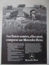7/1979 PUB MERCEDES-BENZ 4X4 GELANDE BUNDESWEHR TRUCK CAMION ORIGINAL FRENCH AD