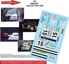 DÉCALS 1/32 réf 703 BMW M3 SOULET SPA 1989