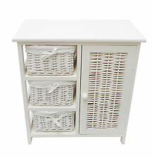 Assembled White 3 Chest of Draws Bedside Table Kids Bedroom Storage Unit Cabinet