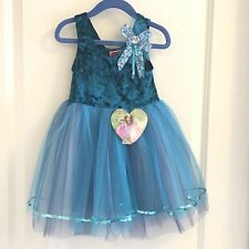 MISS PRINCESS CHILD BLUE DELUXE PRINCESS PLAY COSTUME DRESS UP AGE 3 AND UP NWT