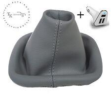 CUFFIA DEL CAMBIO ADATTO A VW LUPO + USB Adattatore di ricarica auto