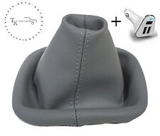 SCHALTSACK SCHALTMANSCHETTE passend für VW New Beetle Grau + USB Ladeadapter KFZ