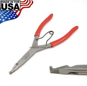 "Wilde 9"" Right Angle 90 Degree Lock Ring Pliers Snap Retaining Satin Finish USA"