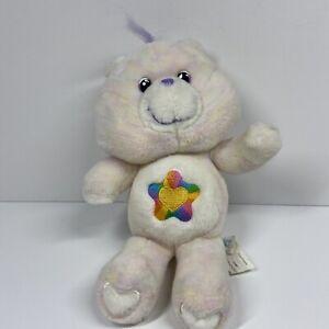 "Care Bears 2003 10"" Plush Stuffed 20th Anniversary True Heart BearRainbow Heart"