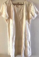 SUNDANCE CATALOG Eyelet River Dress IVORY Size 8 Orig $138 NWT