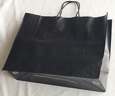 Lot 25 New Made In USA  Gift Bags Tint Black Kraft Shopping Large 16x6x12 Inch