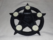 PENTAGRAM Gotico pagane wiccan T-Lite titolare, con t-lites, BN! (nem2273)