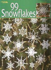 99 Snowflakes Crochet Instruction Patterns Christmas Ornaments Leisure Arts NEW