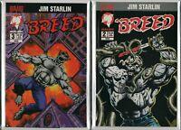 JIM STARLIN : BREED #2 #3  Bravura Comics 1994     NM   ref:F3.387