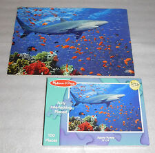 Melissa and Doug Shark Ocean Life Fish Jigsaw Puzzle 100 Pieces 14 x 19 Age 6+