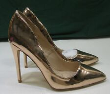 "new ladies disco Gold 4.5""High Stiletto Heel Pointy Toe Sexy Shoes Size 7"