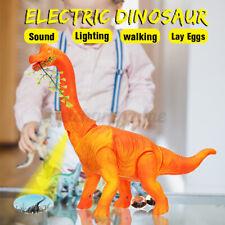 Electric Brachiosaurus Dinosaur Lay Eggs Walks Sound Projection Toy Child  W /·