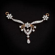 Gorgeous 1.20 Cts Natural Diamonds Mangalsutra Pendant In Fine Hallmark 14K Gold