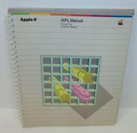 Apple 11 WPL Manual iie DOS 3.3 Based Manual