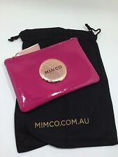 BNWT MIMCO SMALL MIM POUCH WALLET Schiaparell rosegold LEATHER RRP69.95