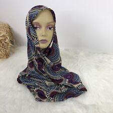 Liviya Boho Style Scarf Geometric Aztez Double Wide Headcover Neckcover Silk