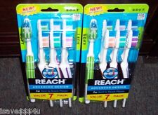 14 REACH ADVANCED DESIGN TOOTHBRUSHES FULL SOFT HEAD  FOR HARD TO REACH PLACES