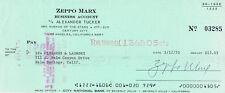 "Zeppo Marx 1901-79 genuine autograph signed 2.75""x6"" bank check"