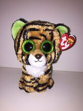 TY STRIPES TIGER BEANIE BOOS- NEW,MINT RED TAG-RETIRED TO FIND-LOVES TO PLAY TAG