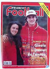 France Football du 4/1/1994; Palmarés 93, Ginola joueur de l'année/ Allemagne