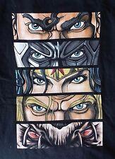 Geek Fuel DC Comics Batman Superman Vision of Justice League Eyes T-Shirt M