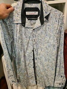 English Laundry John Lennon Button Up Shirt, Medium, Pasley