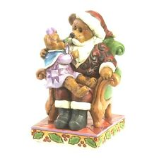 "Jim Shore Boyds Bears ""Santa with Holly.Christmas Wishes"" New * Free Shipping"
