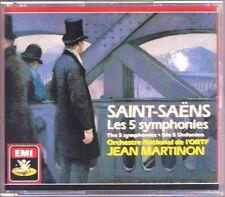 Jean MARTINON: SAINT-SAENS 5 Symphonies GA EMI 2CD 1989 Bernard Gavoty