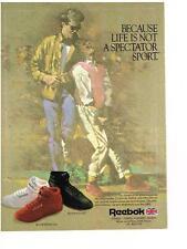 PUBLICITE ADVERTISING   1986   REEBOK  chaussures de sport